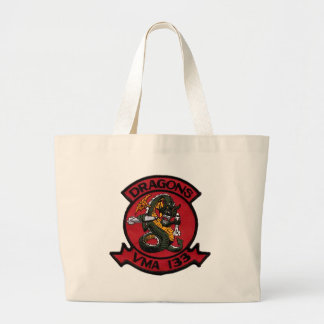 VMA 133 Dragons Large Tote Bag