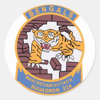 VMA-224 que lucha Bengals Pegatina Redonda