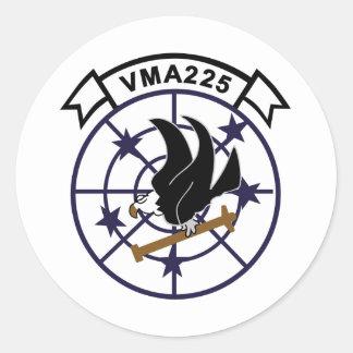 VMA-225 PEGATINA REDONDA