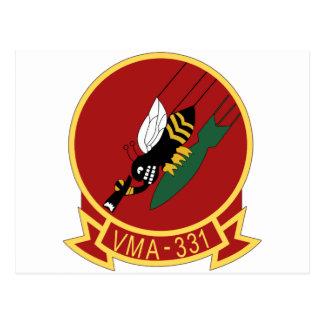 vma-331 navy patch postcard