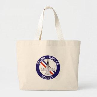 vmfa 115 sliver eagles tote bags