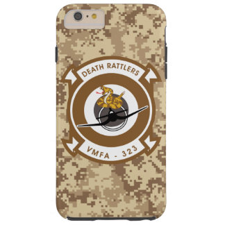 "VMFA-323 Death Rattlers   ""Marine Camo"" Tough iPhone 6 Plus Case"