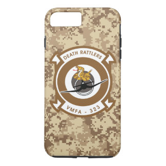 "VMFA-323 Death Rattlers ""Marine Camo"" iPhone 8 Plus/7 Plus Case"