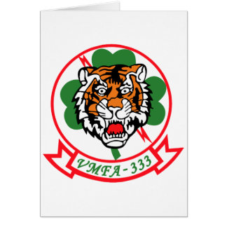 VMFA-333 Fighting Shamrocks Card