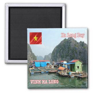 VN - Vietnam - Ha Long Bay - Fishing Village Magnet