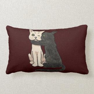 Vntage Cute Kissing Cat Couple Cushion Throw Pillow
