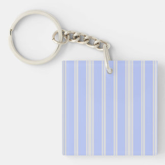Vntage Mattress Ticking Double-Sided Square Acrylic Keychain