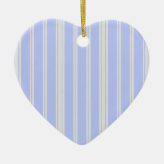 Vntage Mattress Ticking Double-Sided Heart Ceramic Christmas Ornament