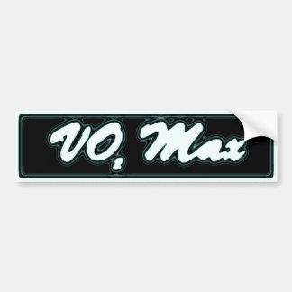 vo2 max bumper sticker