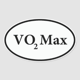 vo2 max oval sticker