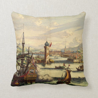 VOC Amsterdam Le Habana 1770, Throw Pillow