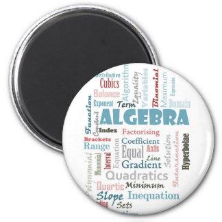 Vocabulario de la álgebra imán redondo 5 cm