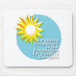 Vocabulario positivo = pensamientos positivos alfombrilla de ratón