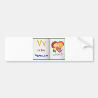 Vocabulary learning sheet bumper sticker
