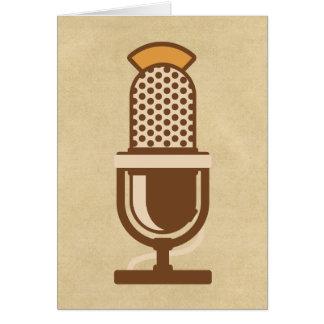Vocal Artist Microphone Card