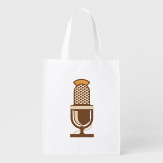 Vocal Artist Microphone Reusable Grocery Bag