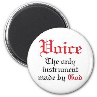 Vocal Gift For Singer 2 Inch Round Magnet