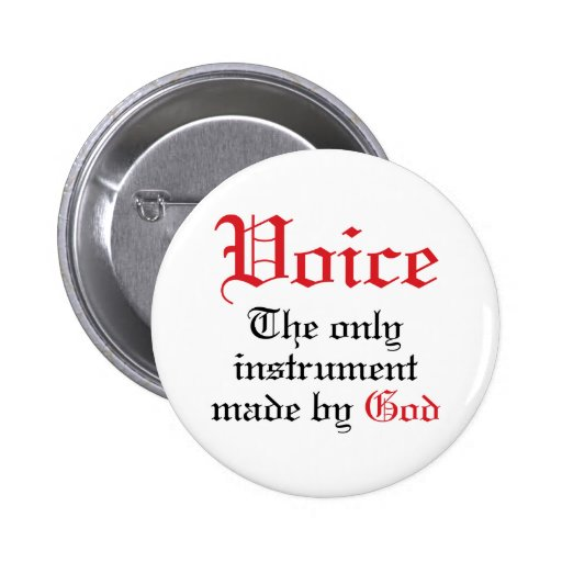 Vocal Gift For Singer Pinback Button