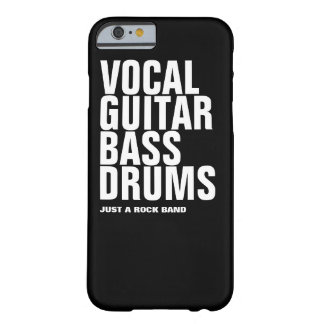 vocal, guitar, bass, drums... rock barely there iPhone 6 case