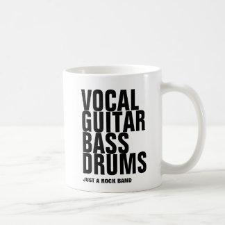 vocal, guitar, bass, drums... rock coffee mug