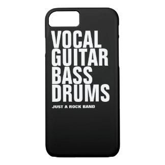 vocal, guitar, bass, drums... rock iPhone 7 case