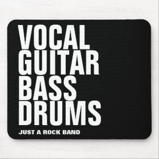 vocal, guitar, bass, drums... rock mouse pad