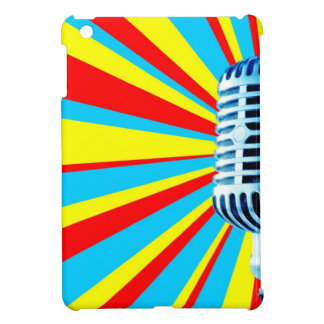 Vocal Microphone with Colorful Starburst iPad Mini Case