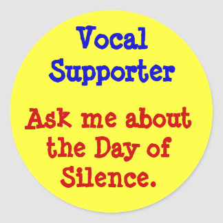 Vocal Supporter Classic Round Sticker