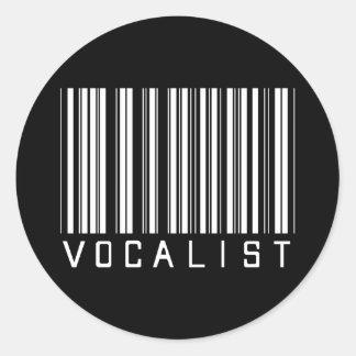 Vocalist Bar Code Classic Round Sticker