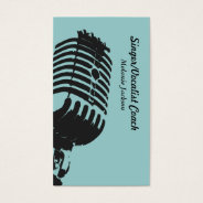 Vocalist Business Card at Zazzle