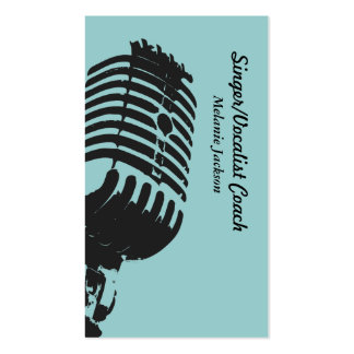 Vocalist Business Cards