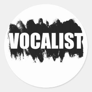 Vocalist Classic Round Sticker