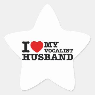 Vocalist Husband Designs Star Sticker