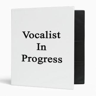 Vocalist In Progress 3 Ring Binder