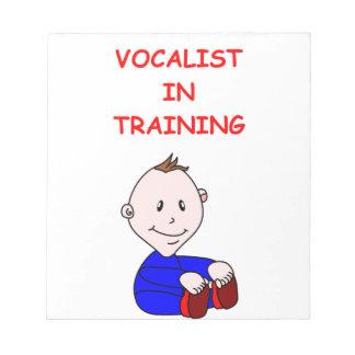 VOCALIST MEMO NOTEPADS