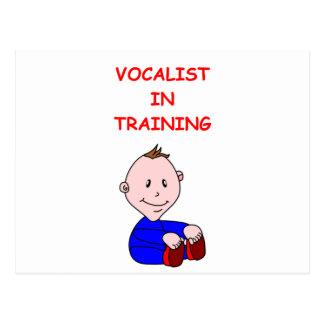 VOCALIST POSTCARD
