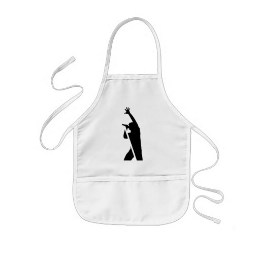 Vocalist Silhouette Aprons