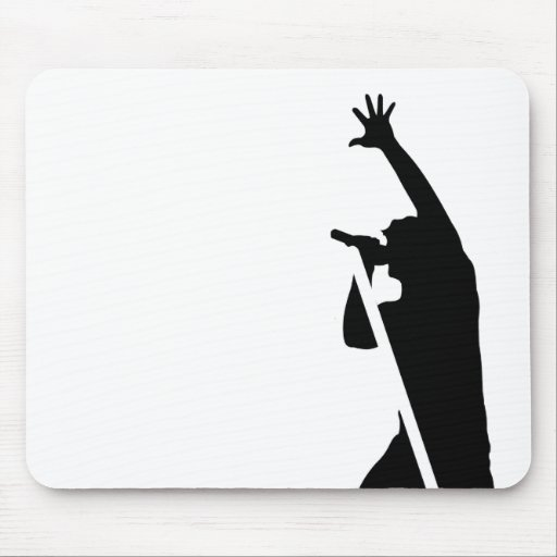 Vocalist Silhouette Mouse Pads
