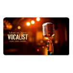 Vocalist, Singer, Performer, Music, Lessons Mic Business Card Templates