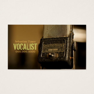 Vocalist, Singer, Performer, Music, Lessons Mic Business Card