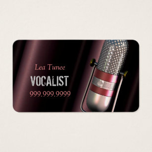 For performing artist business cards templates zazzle vocalist singer performer music lessons mic business card colourmoves