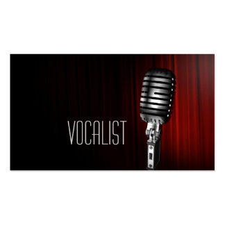 Vocalist, Singer, Performer, Music, Lessons Mic Double-Sided Standard Business Cards (Pack Of 100)
