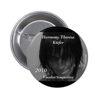Vocalista 2010/compositor de Teresa Kiefer de la a Pin Redondo 5 Cm
