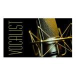 Vocalista, cantante, ejecutante, música, lecciones tarjetas de negocios