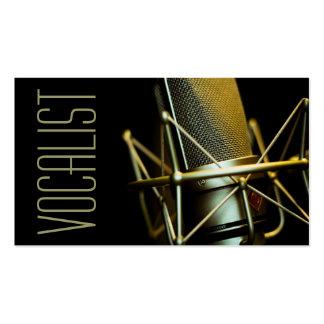 Vocalista cantante ejecutante música lecciones tarjetas de negocios