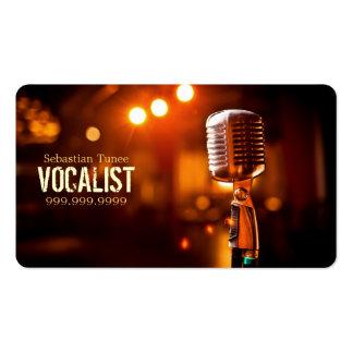 Vocalista cantante ejecutante música lecciones tarjeta de visita