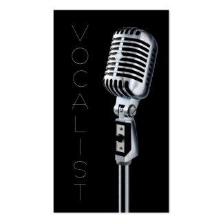 Vocalista, cantante, ejecutante, música, lecciones plantilla de tarjeta de negocio