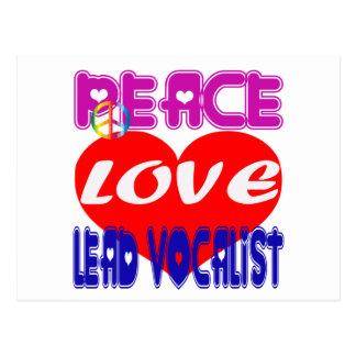 Vocalista de la ventaja del amor de la paz tarjeta postal