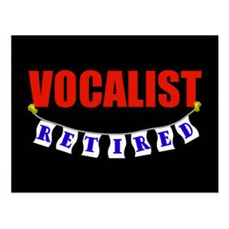 Vocalista jubilado postales