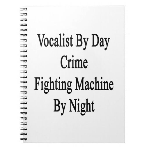 Vocalista por la máquina que lucha del crimen del  libretas espirales